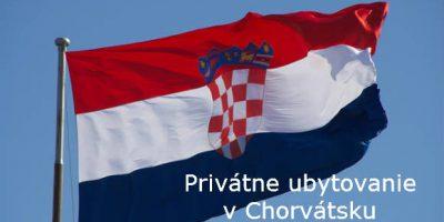 Privátne ubytovanie v Chorvátsku