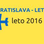 Leto 2016 – kam sa bude lietať z letiska v Bratislave